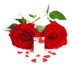 κενά τριαντάφυλλα καρτών στοκ φωτογραφίες