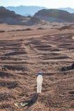 Κενά τσαλακωμένα πλαστικά μπουκάλια του νερού που εγκαταλείπονται στην έρημο Στοκ φωτογραφία με δικαίωμα ελεύθερης χρήσης