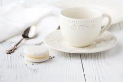 Κενά φλυτζάνι και κουτάλι καφέ Στοκ εικόνες με δικαίωμα ελεύθερης χρήσης