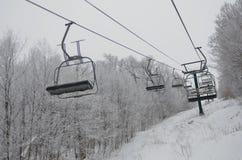 Κενά chairlifts σε Stowe στοκ φωτογραφίες με δικαίωμα ελεύθερης χρήσης