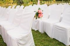 Κενές άσπρες καρέκλες Στοκ Εικόνες