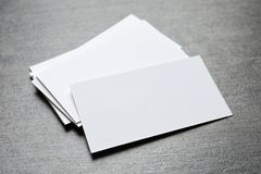 κενές επαγγελματικές κάρτες Στοκ εικόνες με δικαίωμα ελεύθερης χρήσης