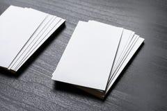 κενές επαγγελματικές κάρτες Στοκ φωτογραφία με δικαίωμα ελεύθερης χρήσης