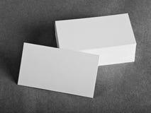 κενές επαγγελματικές κάρτες Στοκ Εικόνες
