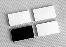 κενές επαγγελματικές κάρτες Στοκ Φωτογραφίες