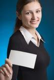 κενές μπλε νεολαίες σημειώσεων καρτών επιχειρησιακών επιχειρηματιών ΤΣΕ στοκ φωτογραφία