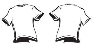 Κενές μπλούζες διανυσματική απεικόνιση