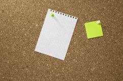 Κενές σημειώσεις εγγράφου για έναν πίνακα Στοκ φωτογραφία με δικαίωμα ελεύθερης χρήσης