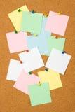 κενές σημειώσεις φελλ&omicro Στοκ φωτογραφία με δικαίωμα ελεύθερης χρήσης