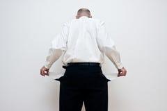 κενές τσέπες ατόμων Στοκ φωτογραφία με δικαίωμα ελεύθερης χρήσης