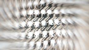 Κενή άποψη καρεκλών άνωθεν, έννοια ακροατηρίων Αφηρημένη επίδραση θαμπάδων κινήσεων Στοκ φωτογραφίες με δικαίωμα ελεύθερης χρήσης