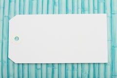 Κενή άσπρη ετικέττα δώρων Στοκ Εικόνες