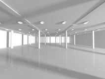 Κενή άσπρη τρισδιάστατη απόδοση ανοιχτού χώρου Στοκ Εικόνες
