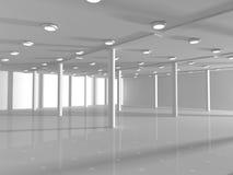 Κενή άσπρη τρισδιάστατη απόδοση ανοιχτού χώρου Στοκ Εικόνα