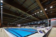Κενή λίμνη σε Dinamo στη ρουμανική διεθνή κολύμβηση πρωταθλήματος Στοκ Εικόνα