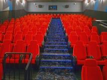 κενή αίθουσα κινηματογράφων Στοκ Εικόνα