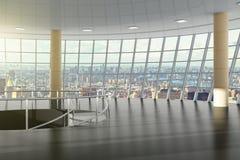 Κενή αίθουσα στο εμπορικό κέντρο στο τελευταίο όροφο Στοκ Εικόνες