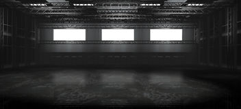 κενή αποθήκη εμπορευμάτω& Στοκ εικόνες με δικαίωμα ελεύθερης χρήσης