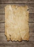 κενή αφίσα ανασκόπησης ξύλινη Στοκ Εικόνες