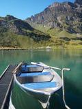 Κενή βάρκα στη λίμνη Truebsee στοκ εικόνα με δικαίωμα ελεύθερης χρήσης