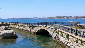 κενή γέφυρα foca του κάστρου, Ιζμίρ, Τουρκία φιλμ μικρού μήκους