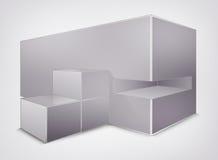 Κενή διανυσματική κατασκευή δημιουργικότητας. τετράγωνο Στοκ φωτογραφίες με δικαίωμα ελεύθερης χρήσης
