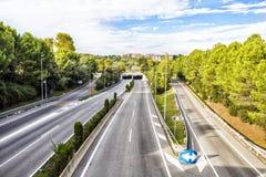 κενή εθνική οδός Στοκ εικόνες με δικαίωμα ελεύθερης χρήσης