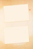 Κενή εικόνα σε παλαιό χαρτί Στοκ Εικόνα