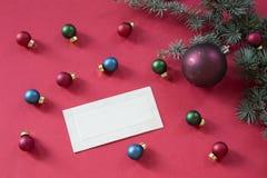Κενή εκλεκτής ποιότητας ευχετήρια κάρτα διακοπών στοκ φωτογραφίες με δικαίωμα ελεύθερης χρήσης