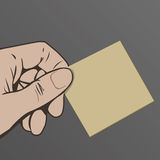 κενή εκμετάλλευση χεριών καρτών στοκ φωτογραφίες με δικαίωμα ελεύθερης χρήσης
