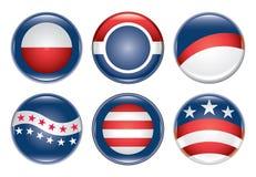 κενή εκστρατεία κουμπιών Στοκ εικόνες με δικαίωμα ελεύθερης χρήσης
