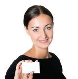 κενή εμφάνιση καρτών επιχε&io Στοκ Εικόνες