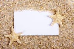 Κενή επιστολή στην άμμο Στοκ Εικόνες