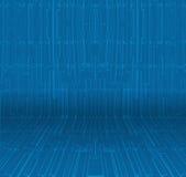 Κενή εσωτερική προοπτική με την αφηρημένη μπλε ταπετσαρία Στοκ φωτογραφία με δικαίωμα ελεύθερης χρήσης