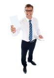 κενή εταιρική αρσενική παίζοντας εμφάνιση καρτών Στοκ Εικόνες