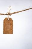 Κενή ετικέττα με τη σειρά, τιμή, ετικέττα δώρων Στοκ εικόνες με δικαίωμα ελεύθερης χρήσης