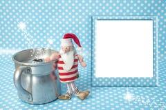 Κενή ευχετήρια κάρτα πλαισίων φωτογραφιών Χριστουγέννων Στοκ φωτογραφία με δικαίωμα ελεύθερης χρήσης