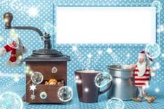 Κενή ευχετήρια κάρτα πλαισίων Χριστουγέννων Στοκ εικόνα με δικαίωμα ελεύθερης χρήσης