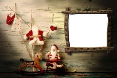 Κενή ευχετήρια κάρτα πλαισίων Χριστουγέννων Στοκ Φωτογραφίες