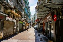 Κενή ημέρα οδών του Μακάο στενή στοκ φωτογραφία με δικαίωμα ελεύθερης χρήσης