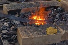 κενή θέρμανση σφυρηλάτηση&sigm στοκ φωτογραφία με δικαίωμα ελεύθερης χρήσης