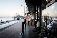 Κενή θερινή πόλη στην Τουρκία Στοκ φωτογραφίες με δικαίωμα ελεύθερης χρήσης