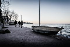 Κενή θερινή πόλη στην Τουρκία Στοκ Φωτογραφίες