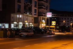 Κενή θερινή πόλη τη νύχτα - Τουρκία Στοκ Φωτογραφία