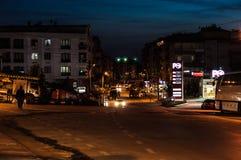 Κενή θερινή πόλη τη νύχτα - Τουρκία Στοκ Εικόνα