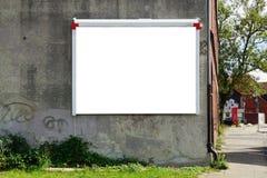 Κενή διαφημιστική επιτροπή τοίχων Στοκ φωτογραφία με δικαίωμα ελεύθερης χρήσης
