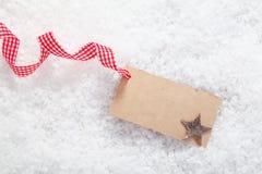 Κενή κάρτα θέσεων ή κάρτα δώρων Στοκ εικόνα με δικαίωμα ελεύθερης χρήσης