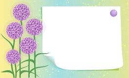 Κενή κάρτα με τα λουλούδια διανυσματική απεικόνιση