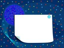Κενή κάρτα με τη σφαίρα και τα αστέρια διανυσματική απεικόνιση