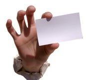κενή κάρτα το κείμενό μου σ& στοκ εικόνα